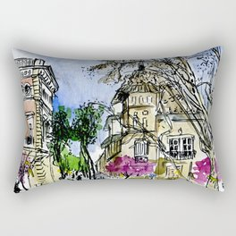 Plaça de la Virreina, Barcelona Rectangular Pillow