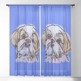 The Shih Tzu always keeps me smiling! Sheer Curtain