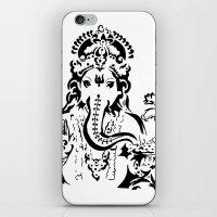 ganesh iPhone & iPod Skins featuring Ganesh by ShivaR