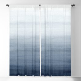 Ocean Watercolor Painting No.2 Blackout Curtain