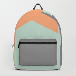 Orange, Green Grey Pastel Abstract Backpack