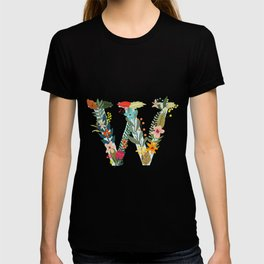 Monogram Letter W T-shirt