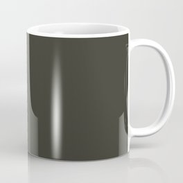 Rosin Black Trending Color Basic Simple Plain Coffee Mug