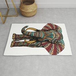 Ornate Elephant (Color Version) Rug