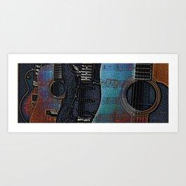 GUITAR BLUES Art Print
