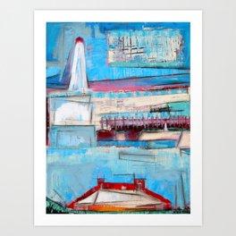 """Lighthouse"" by Simon Brushfield Art Print"