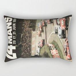 Le Mans poster, 1964, 24hs Le Mans, original vintage poster Rectangular Pillow