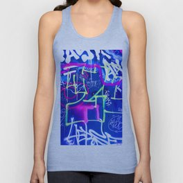 Blue Mood with Pink Language Unisex Tank Top