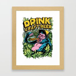 Drink Craft Beer Framed Art Print