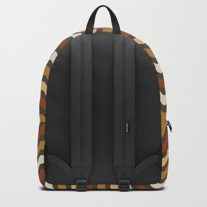 Boho Chic Retro Waves Backpack