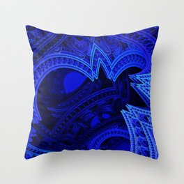 Dreaming in Cobalt Throw Pillow