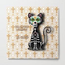 Dia de los Muertos - El Gato Metal Print