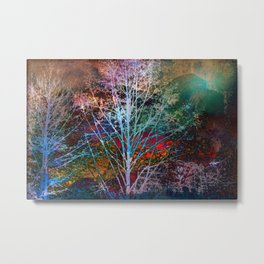 trees in the night Metal Print