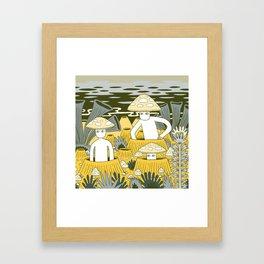 Mushroom Men Framed Art Print