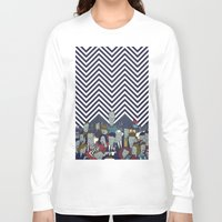 twin peaks Long Sleeve T-shirts featuring Twin Peaks by Ale Giorgini