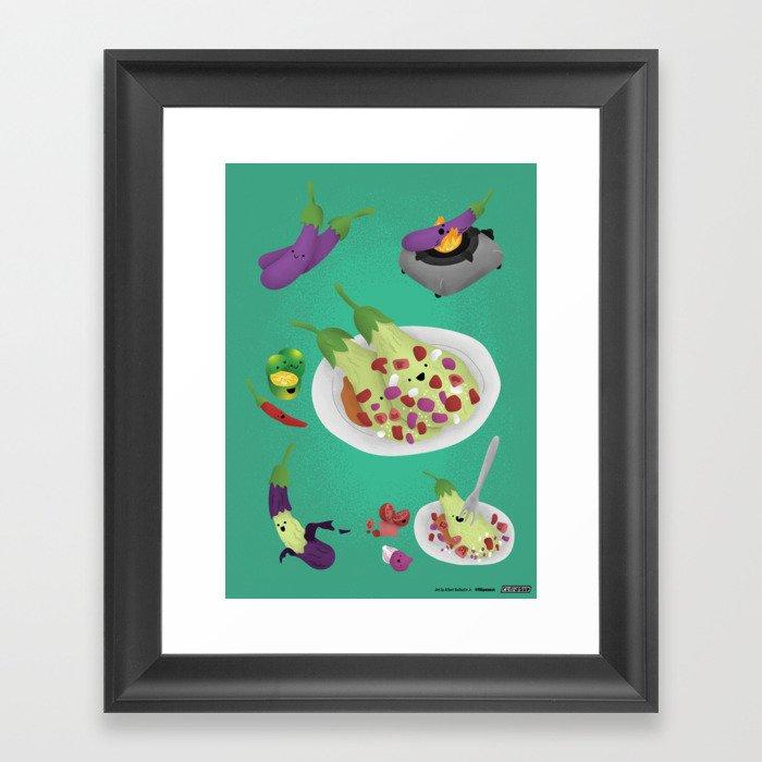 Ensaladang Talong Framed Art Print