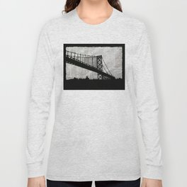 News Feed , Newspaper Bridge Collage Long Sleeve T-shirt