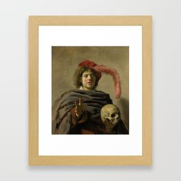 """Frans Hals """"Young man with a skull"""" Framed Art Print"""