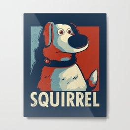 Squirrel Golden Retriever // Obama Hope, Dog for President, Elections Metal Print