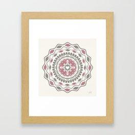 Heart Mandala – Pink Framed Art Print