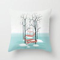 spirit Throw Pillows featuring Forest Spirit by Freeminds