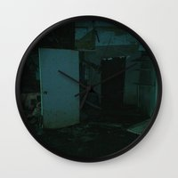 calcifer Wall Clocks featuring Abandoned by Calcifer