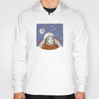 soviet Hoodies featuring Soviet Space Cat by Chris Kawagiwa