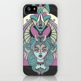 Valkyrie With Angel Wings And Wolf iPhone Case