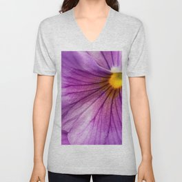 Purple Pansy Flower Close-up #decor #society6 #buyart Unisex V-Neck