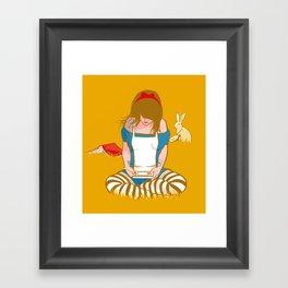 Alice in Mario Land Framed Art Print