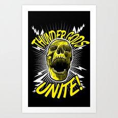Thunder Gods Unite! Art Print