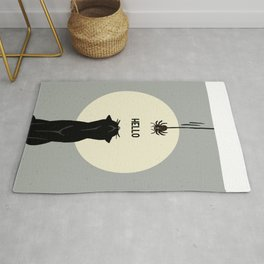 Spider and cat Rug