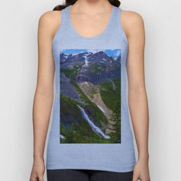 Geraldine Waterfall located in Jasper National Park, Canada Unisex Tank Top