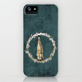 Lar Gibbon Lily Wreath iPhone Case