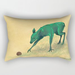 Aquilapes Foal Discovering A Hedgehog Rectangular Pillow
