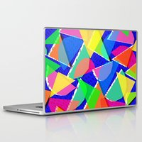 80s Laptop & iPad Skins featuring 80s shapes by Sarah Bagshaw