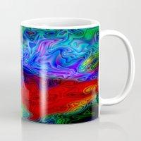 acid Mugs featuring Acid by JT Digital Art