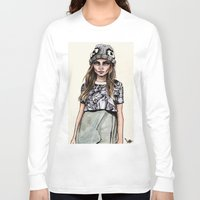 ben giles Long Sleeve T-shirts featuring Cara for Giles 14/15 by vooce & kat