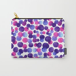 Brighr watercolor circles Carry-All Pouch