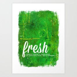 Fresh Green - The Power of Color Art Print