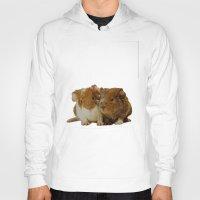 guinea pig Hoodies featuring Guinea pigs by Guna Andersone & Mario Raats - G&M Studi