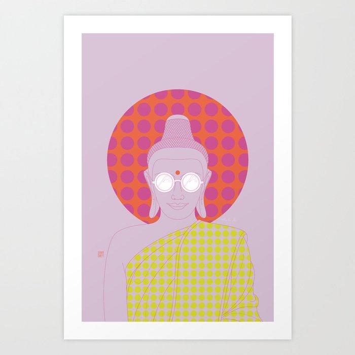 Buddha : Imagine Silence! (PopArtVersion) Art Print