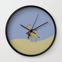 camel Wall Clocks featuring Camel by Mr and Mrs Quirynen