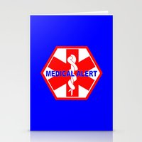 medical Stationery Cards featuring  MEDICAL ALERT IDENTIFICATION TAG by Sofia Youshi