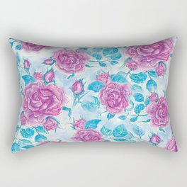 Evening Rose Rectangular Pillow