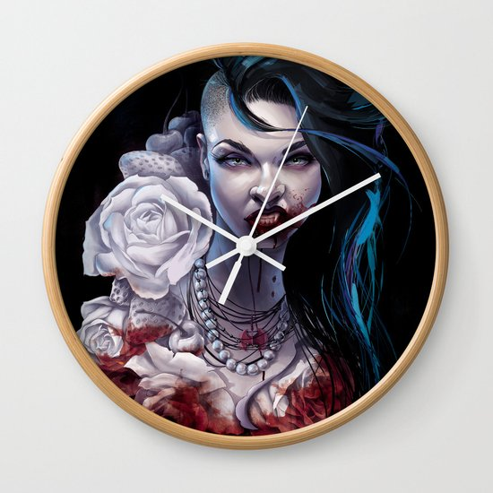 """Marceline  """"shades of red"""" Wall Clock"""