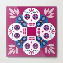 Talavera pink Metal Print