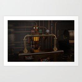 bar-bot Art Print