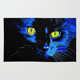 Marley The Cat Portrait With Striking Yellow Eyes Rug