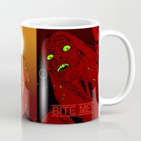 zombies Mugs featuring ZOMBIES by Marcus Wild